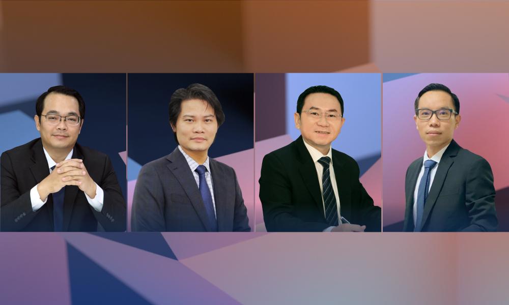 Từ trái sang: Huỳnh Minh Tuấn, Lê Anh Trí, Trương Hiền Phương và Quách Mạnh Hào sẽ cùng chia sẻ kinh nghiệm trong eConference dành cho nhà đầu tư F0 tối 30/6.