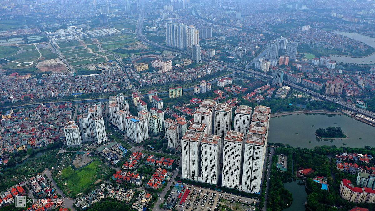 Bất động sản tại quận Hoàng Mai, Hà Nội. Ảnh: Giang Huy.