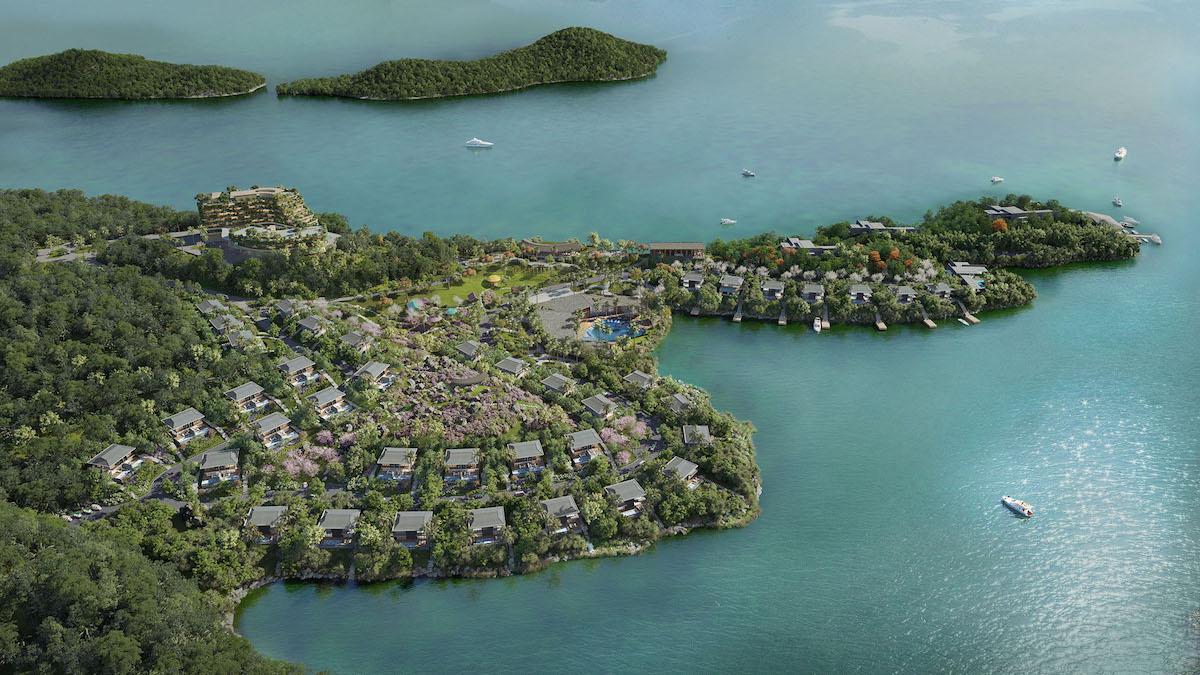 Cullinan Hoà Bình Resort nằm giữa lòng hồ Hòa Bình.