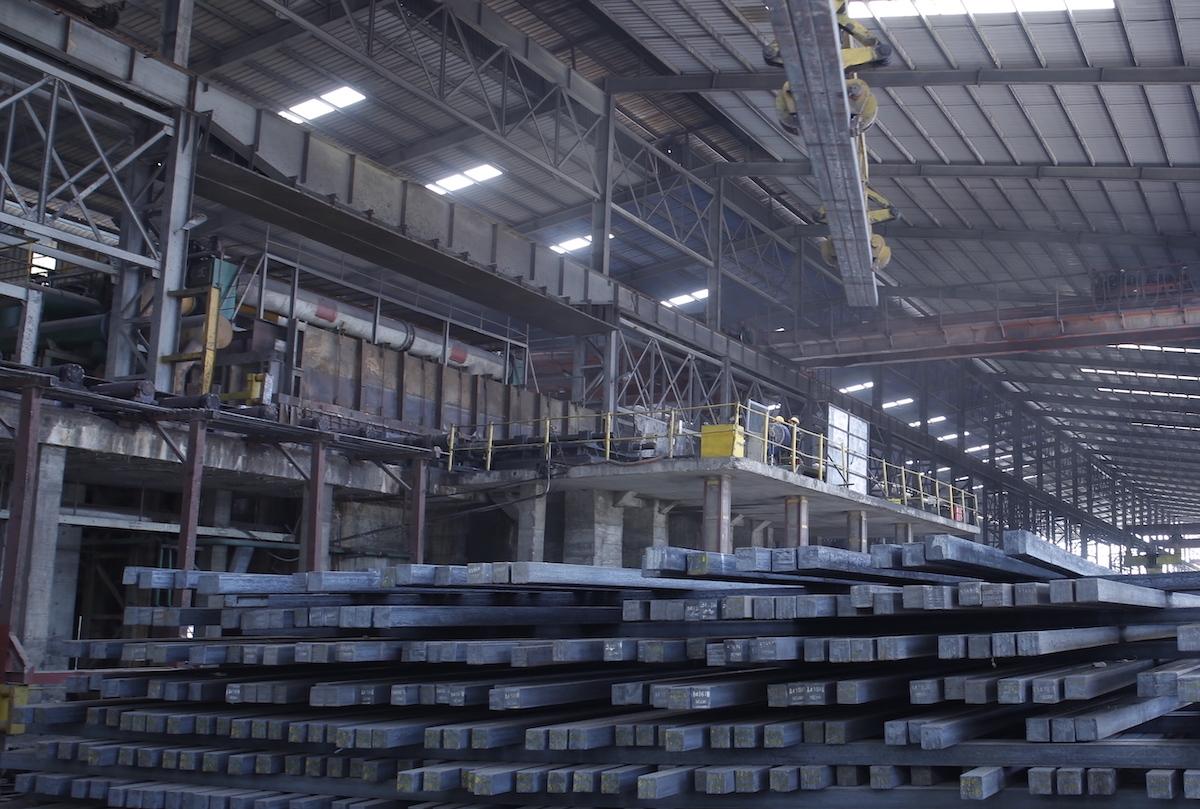 Sản xuất phôi thép tại Tập đoàn Hoà Phát. Ảnh: Phùng Anh