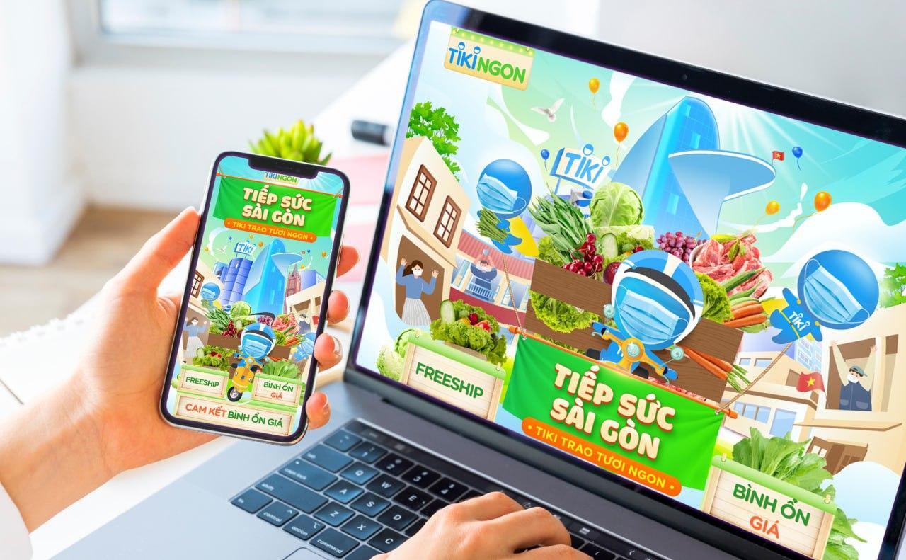 Chương trình Tiếp sức Sài Gòn, Tiki trao tươi ngon diễn ra từ nay đến hết ngày 1/8 trên sàn thương mại điện tử Tiki. Ảnh: Tiki.