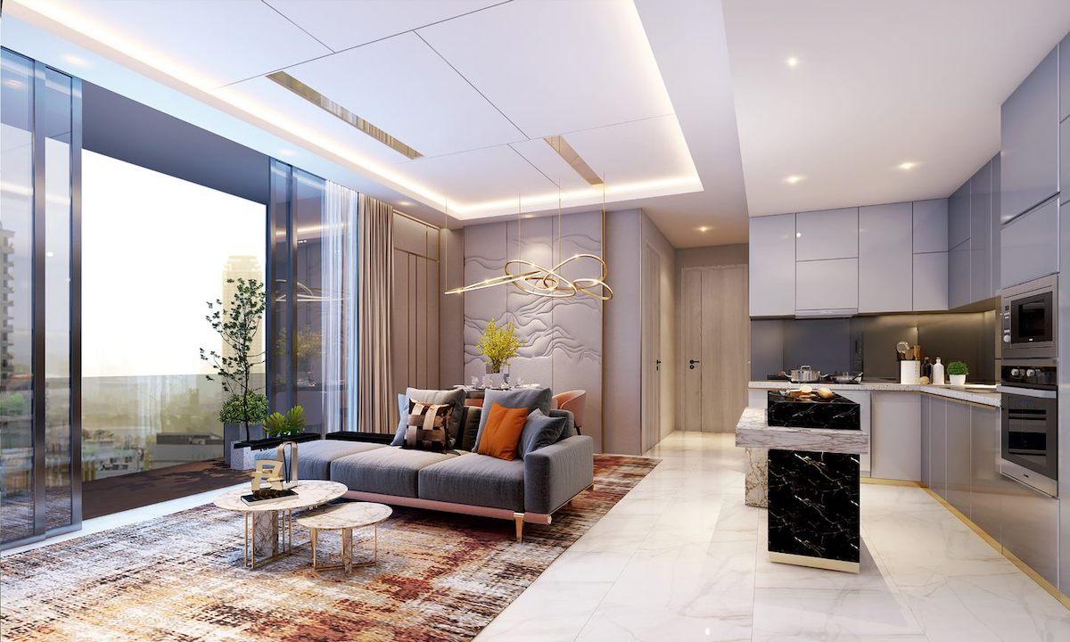 Phối cảnh căn hộ tại dự án Thảo Điền Green.