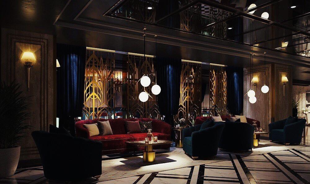 Không gian đậm chất Godfather phong cách Italy tại VVip Club.
