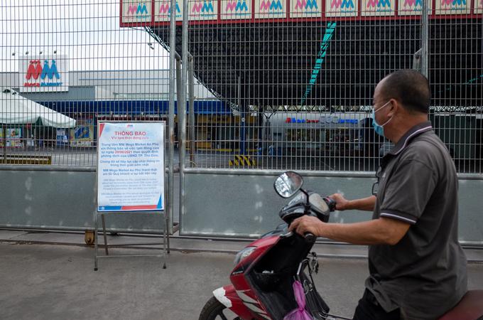 MM Mega Market tạm ngưng 2 ngày và được mở cửa chở lại sau đó. Ảnh: Thành Nguyễn.
