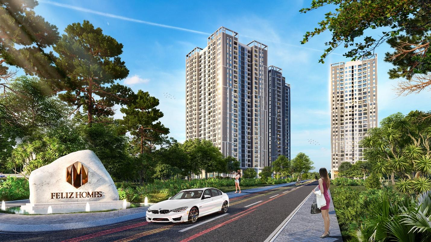 Ngoài hệ thống tiện ích Feliz Homes còn sở hữu vị trí đắc địa giữa hai phường Hoàng Văn Thụ và Mai Động, quận Hoàng Mai (trước đây là quận Hai Bà Trưng), cách hồ Hoàn Kiếm chỉ 4,5km.