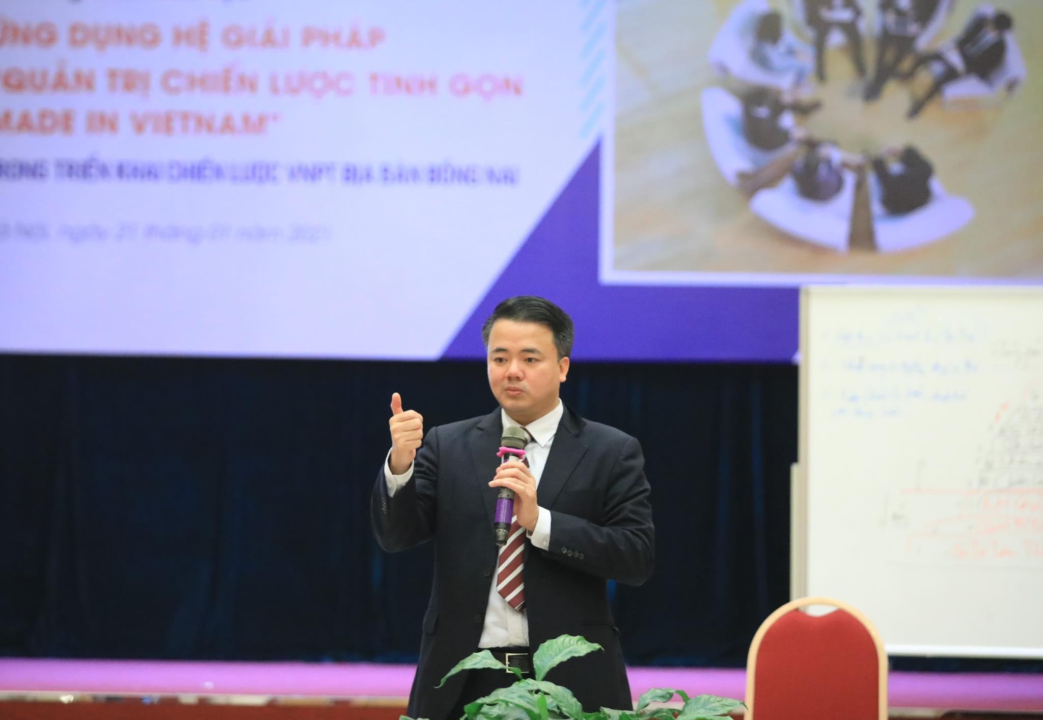 PGS.TS Nguyễn Đăng Minh, Chủ tịch Hội đồng tư vấn Viện Quản trị Tinh gọn GKM (Công ty GKM Việt Nam), nhà khoa học, giảng viên Đại học Kinh tế (ĐHQG Hà Nội). Ảnh: NVCC.