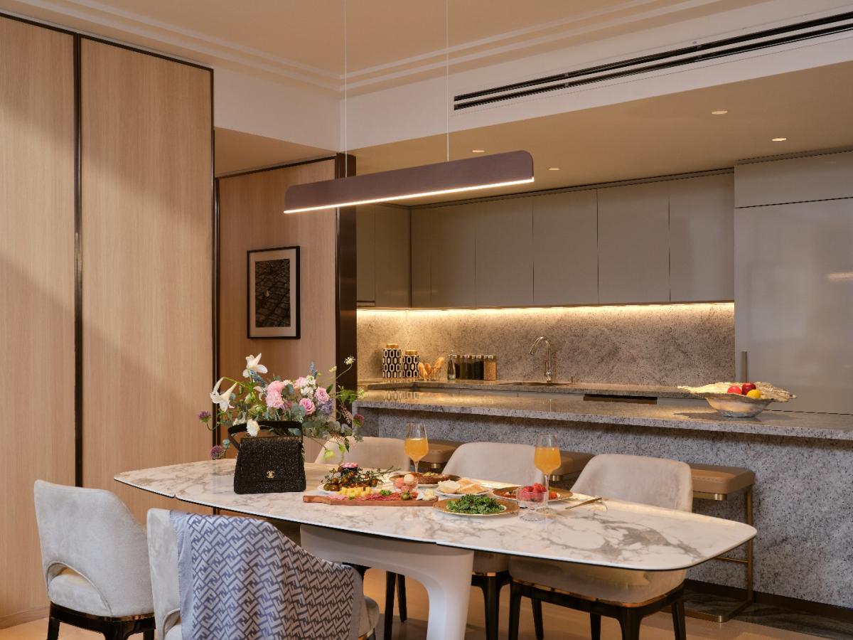 Căn hộ mẫu thuộc bộ sưu tập Legacy (thương hiệu JW Marriott) của Grand Marina. Ảnh: Masterise Homes