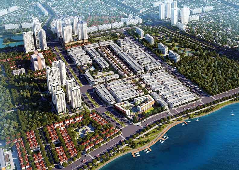 Phối cảnh khu đô thị Louis City Hoàng Mai - trung tâm giao thương mới của phía Nam Thủ đô. Ảnh: Công ty CP Phát triển Đô thị Hoàng Mai.