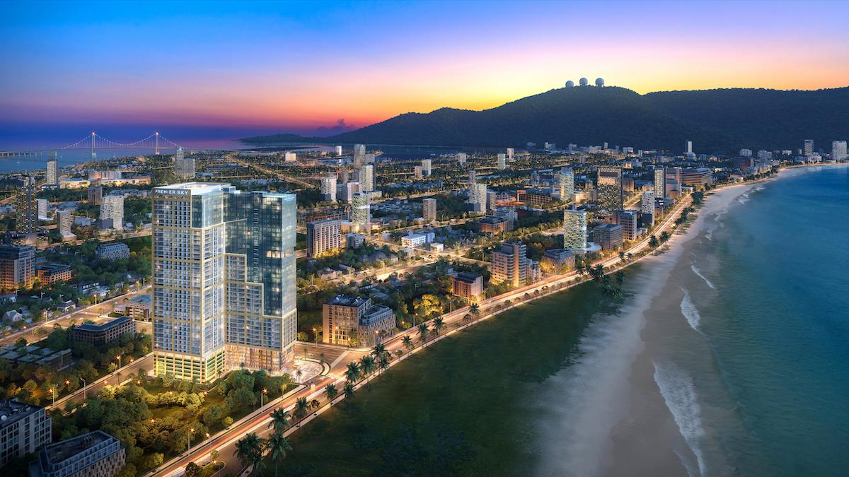 Phối cảnh dự án view hướng biển tại Đà Nẵng.