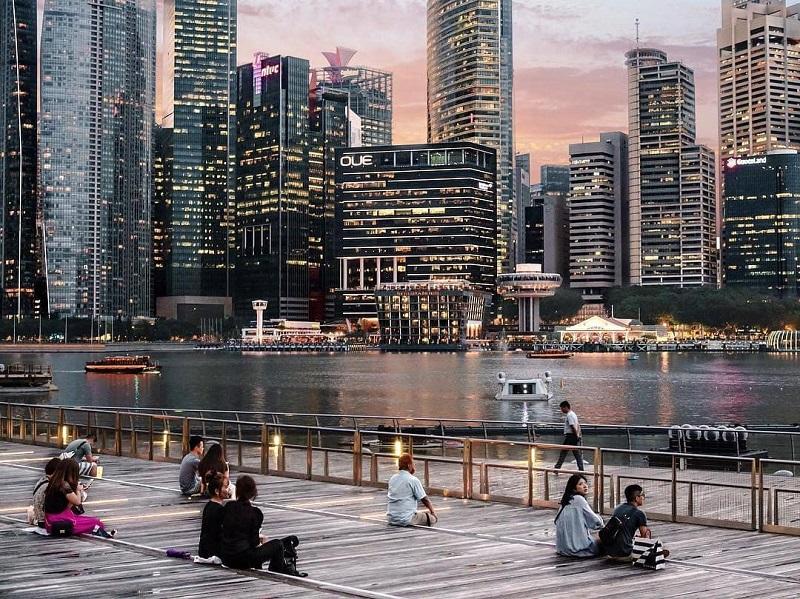 Các tòa nhà cao tầng được quy hoạch hiện đại, có cảnh quan đẹp và giảm thiểu giao thông cơ giới tại Singapore. Ảnh: Travelgear.