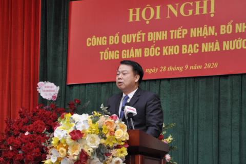 Tân thứ trưởng Bộ Tài chính Nguyễn Đức Chi. Ảnh: MOF.