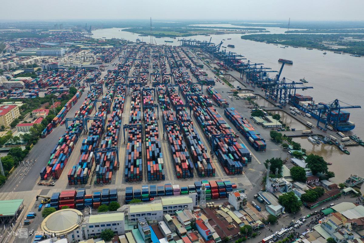Cảng Cát Lái (TP HCM) tháng 4/2021. Ảnh: Quỳnh Trần