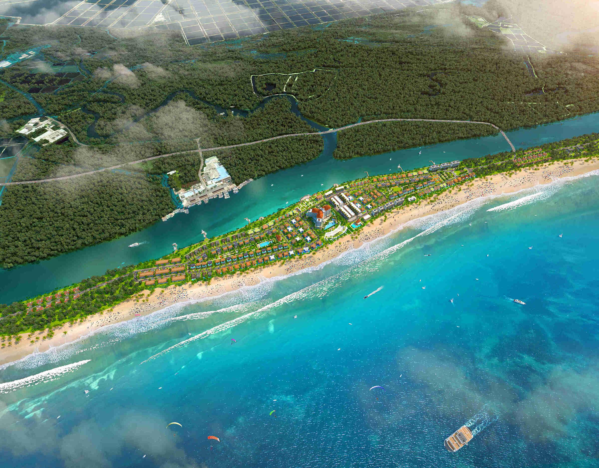 Habana Island có địa thế cực kỳ hiếm tựa như một ốc đảo riêng tư và tách biệt