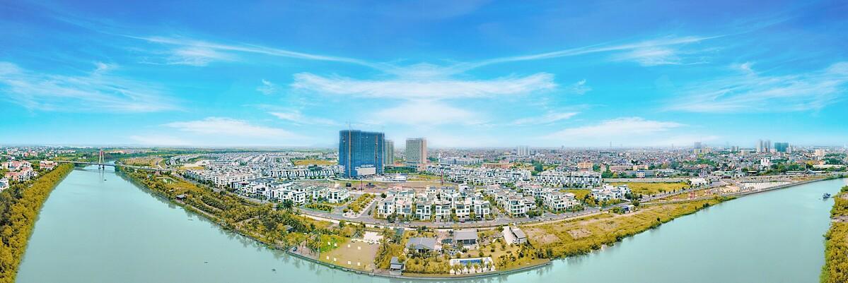 Dự án The Minato Residence nhìn từ view sông Lạch Tray.