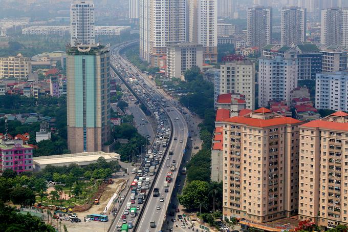 Phía Nam Hà Nội, khu vực tập trung nhiều dự án căn hộ bình dân. Ảnh: Ngọc Thành.
