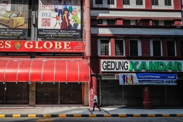 Một con phố vắng lặng ở Kuala Lumpur, Malaysia vào tháng 7/2021. Ảnh: Zuma Press.