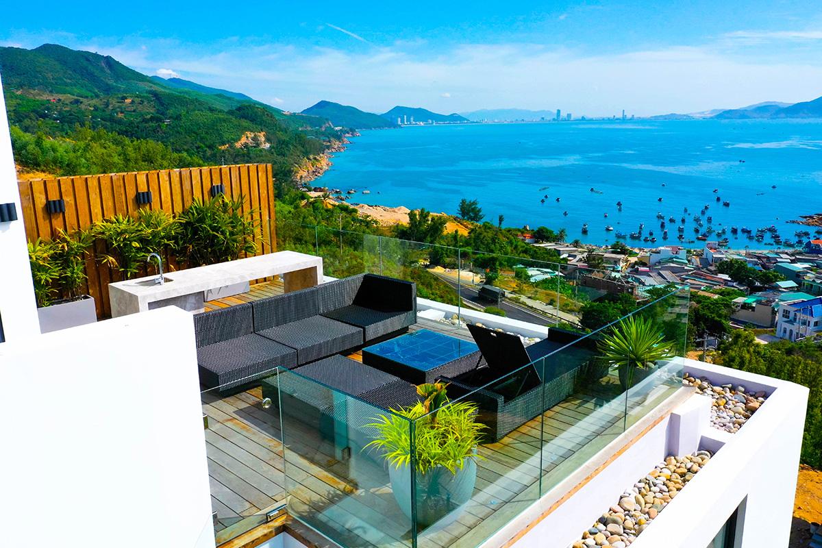 Tầm nhìn ra biển từ biệt thự nghỉ dưỡng cao cấp Casa Marina Premium. Ảnh: BCG Land.