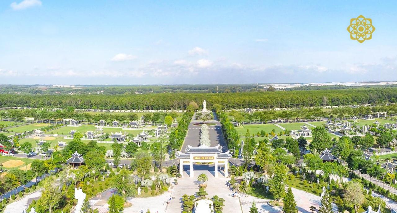 Toàn cảnh Công viên Vĩnh Hằng Long Thành.