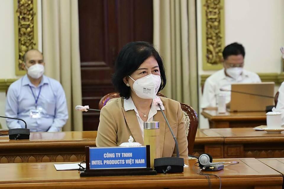 Bà Hồ Thị Thu Uyên - Giám đốc Đối ngoại Intel Việt Nam. Ảnh: Trung tâm báo chí TP HCM