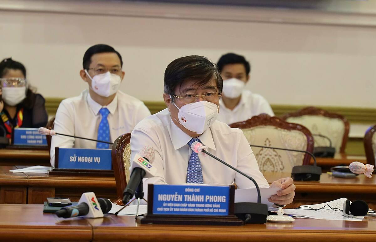 Ông Nguyễn Thành Phong - Chủ tịch UBND TP HCM. Ảnh: Trung tâm báo chí TP HCM