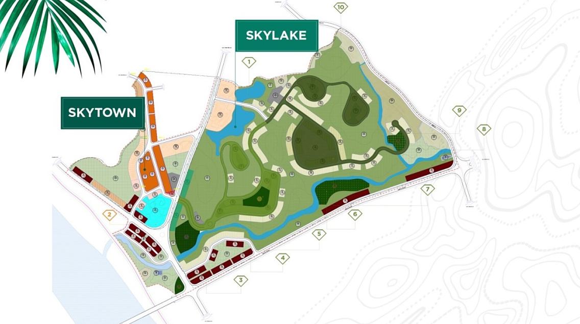 Quy hoạch tổng thể dự án Eurowindow Green Park Yên Bái rộng 60,6 ha.