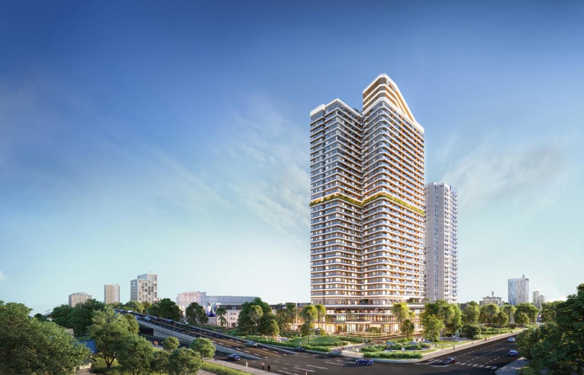 Khu phức hợp căn hộ cao cấp, khách sạn Charm Diamond được kỳ vọng sẽ trở thành biểu tượng mới của khu vực Dĩ An, Bình Dương.