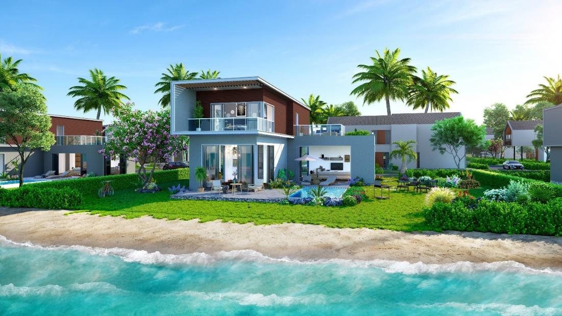 Những căn villa biển tại The Tropicana có tầm nhìn trực diện biển đắt giá.