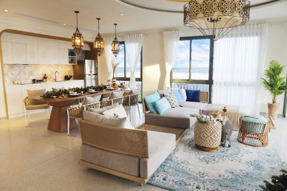 Oasis Villa mang phong cách hành Thủy, kết hợp giữa cảm hứng Trung Đông và nét truyền thống Á Đông.