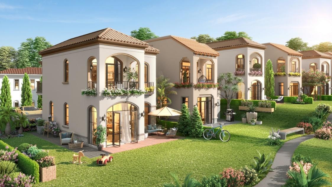 Biệt thự đồi giáp biển mang phong cách kiến trúc Địa Trung Hải.