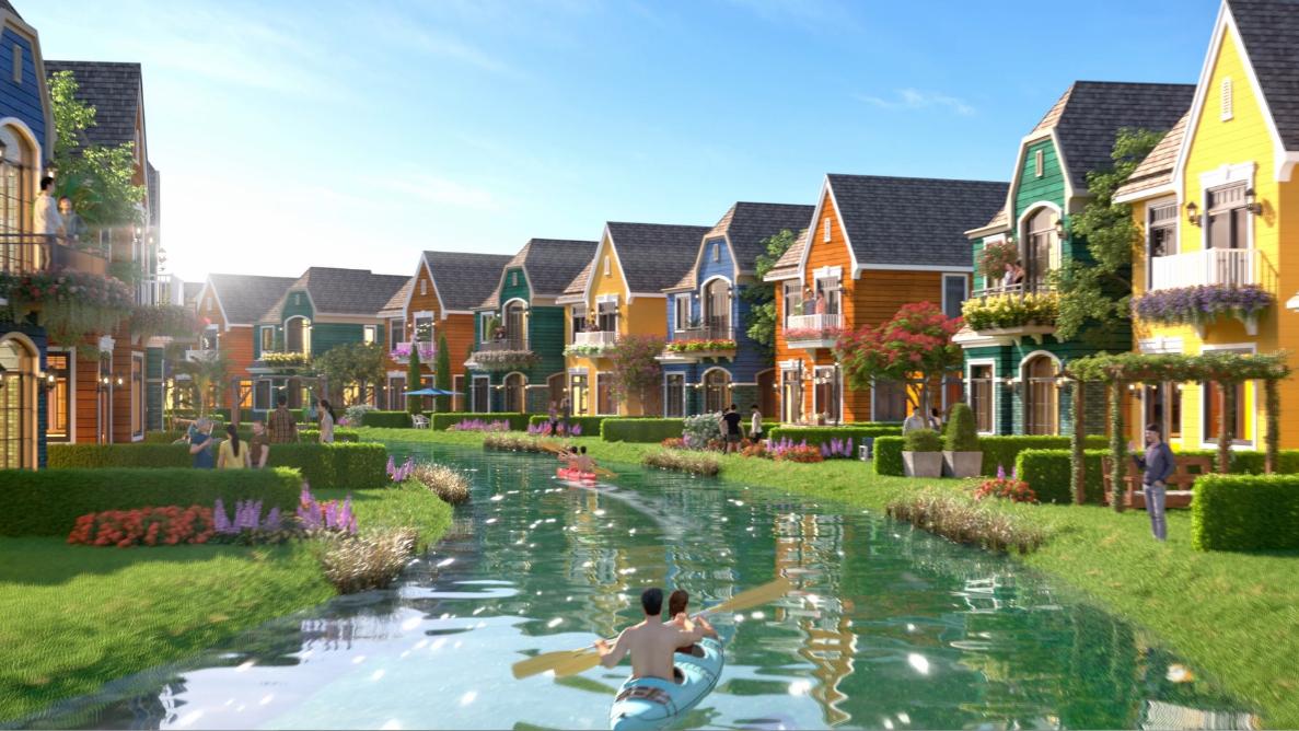 Biệt thự Lagoon tái hiện các ngôi làng mang kiến trúc Châu Âu cổ