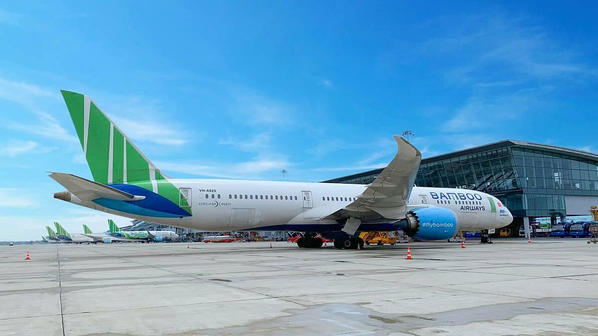 Một chiếc Boeing 787-9, dòng máy bay dự kiến được Bamboo Airways khai thác đường bay Mỹ. Ảnh: BAV