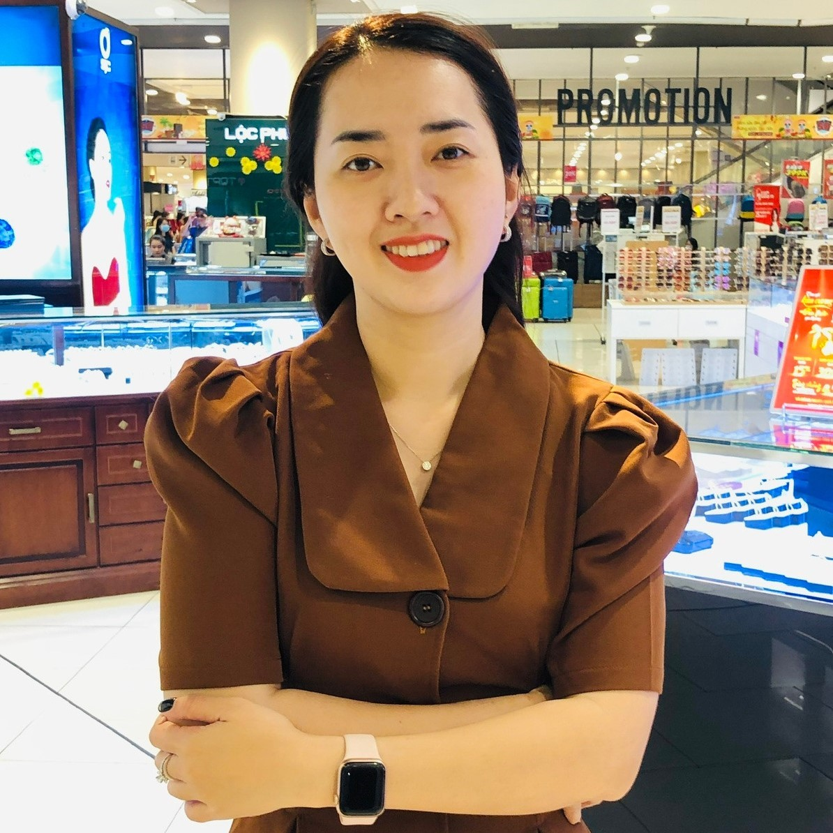 Bà Trần Diễm Sa - Trưởng phòng Thu mua ngành Thực phẩm tươi sống, Công ty Trách nhiệm hữu hạn AEON Việt Nam