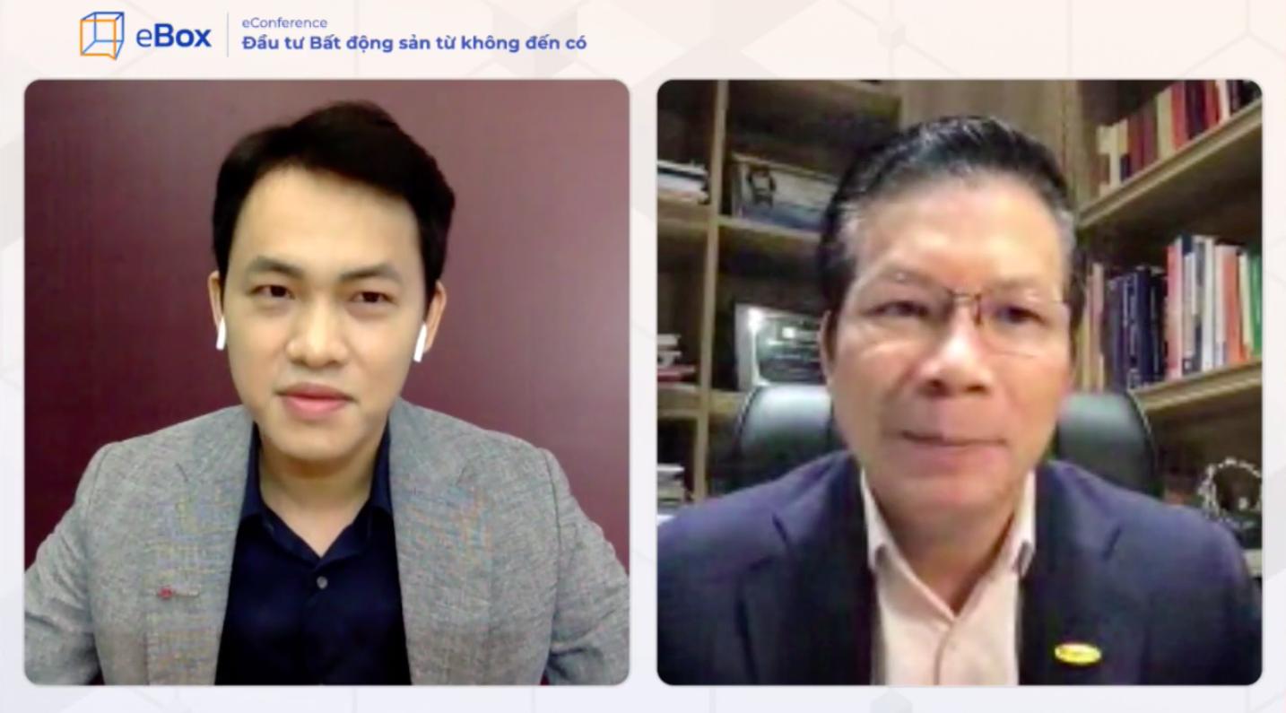 Phiên livestream hỏi đáp với chuyên gia Phạm Thành Hưng trên ebox. Ảnh chụp màn hình.