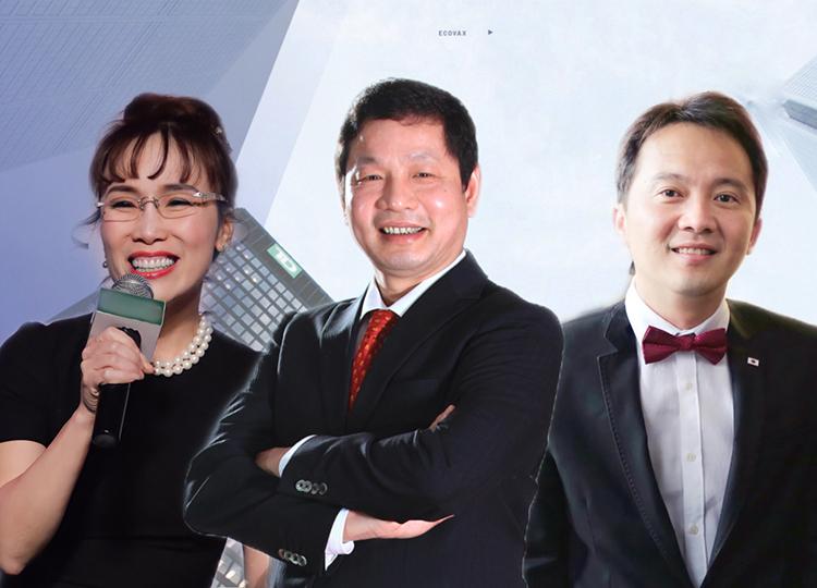 Bà Nguyễn Phương Thảo - Chủ tịch HĐQT Sovico Holdings, ông Trương Gia Bình - Chủ tịch HĐQT tập đoàn FPT và ông Jakarin Srimoon - Phó Chủ tịch phụ trách các vấn đề quốc tế (UTTC) – Thái Lan sẽ là những diễn giả trong chương trình đào tạo (từ trái qua). Ảnh: Đức Trần.