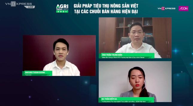 Toạ đàm trực tuyến Giải pháp tiêu thụ nông sản Việt tại các chuỗi bán hàng hiện đại trên VnExpress ngày 8/10.
