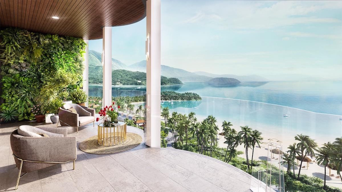 Tầm nhìn hướng biển từ căn hộ Asiana Đà Nẵng