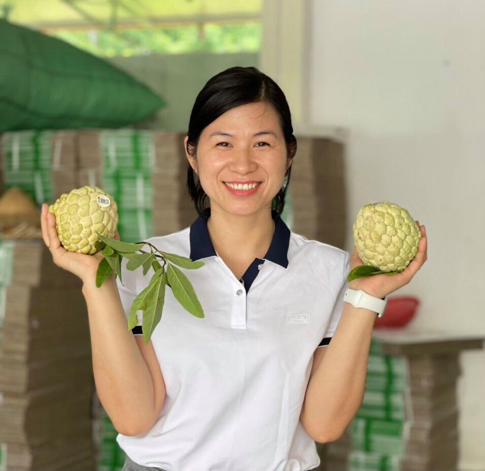 Bà Nguyễn Thi Lý - Giám đốc Hợp tác xã Nông sản huyện Chi Lăng.