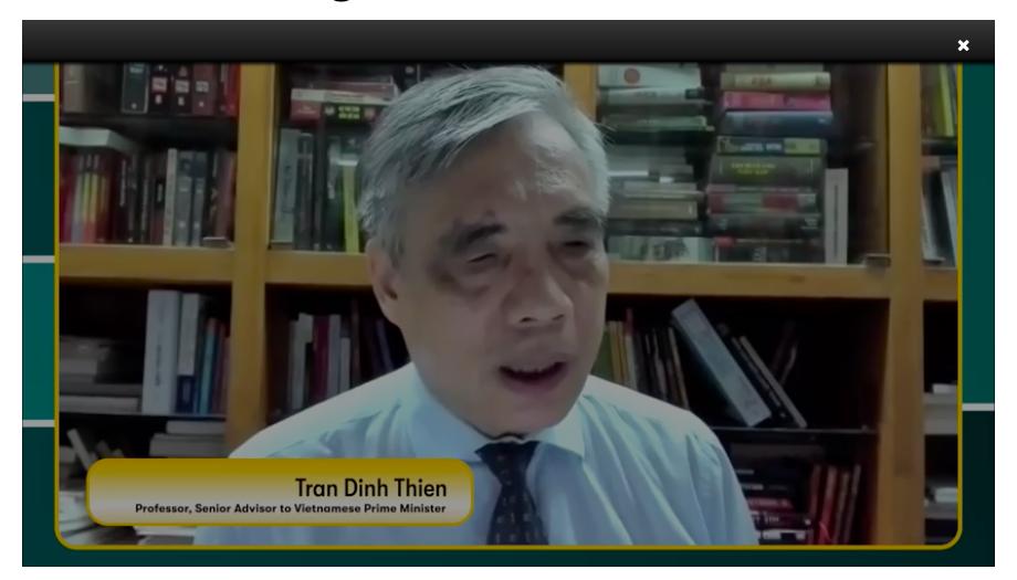 Giáo sư Tiến sĩ Trần Đình Thiên, cố vấn cao cấp của Thủ tướng Việt Nam
