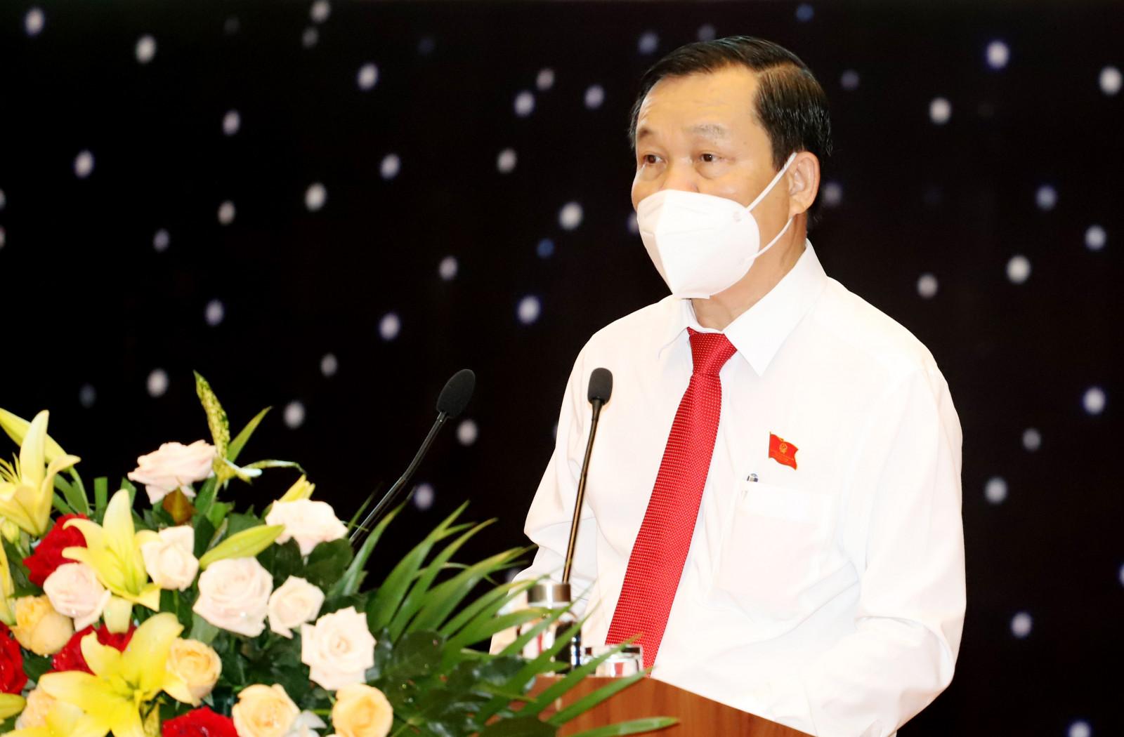 Ông Võ Văn Minh - Phó Bí thư Tỉnh ủy, Chủ tịch UBND tỉnh Bình Dương phát biểu tại sự kiện. Ảnh: Báo Bình Dương