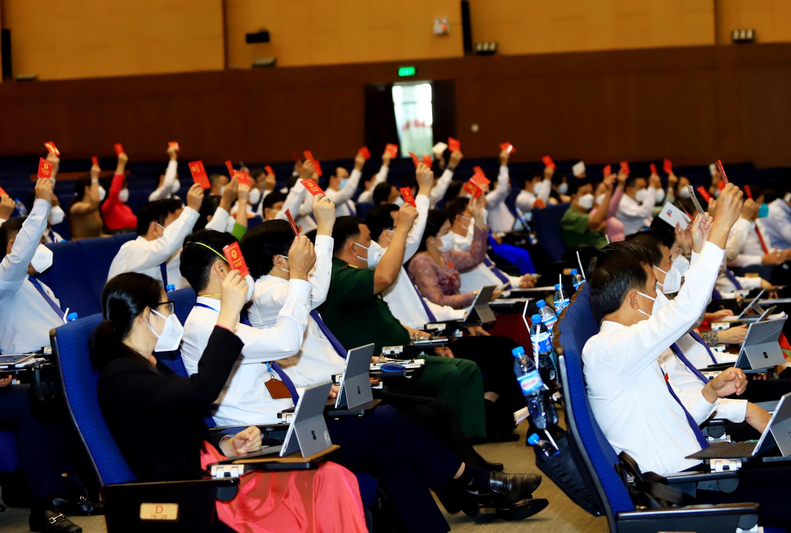 Các địa biểu biểu quyết tại kỳ họp thứ hai - HĐND tỉnh Bình Dương khóa X