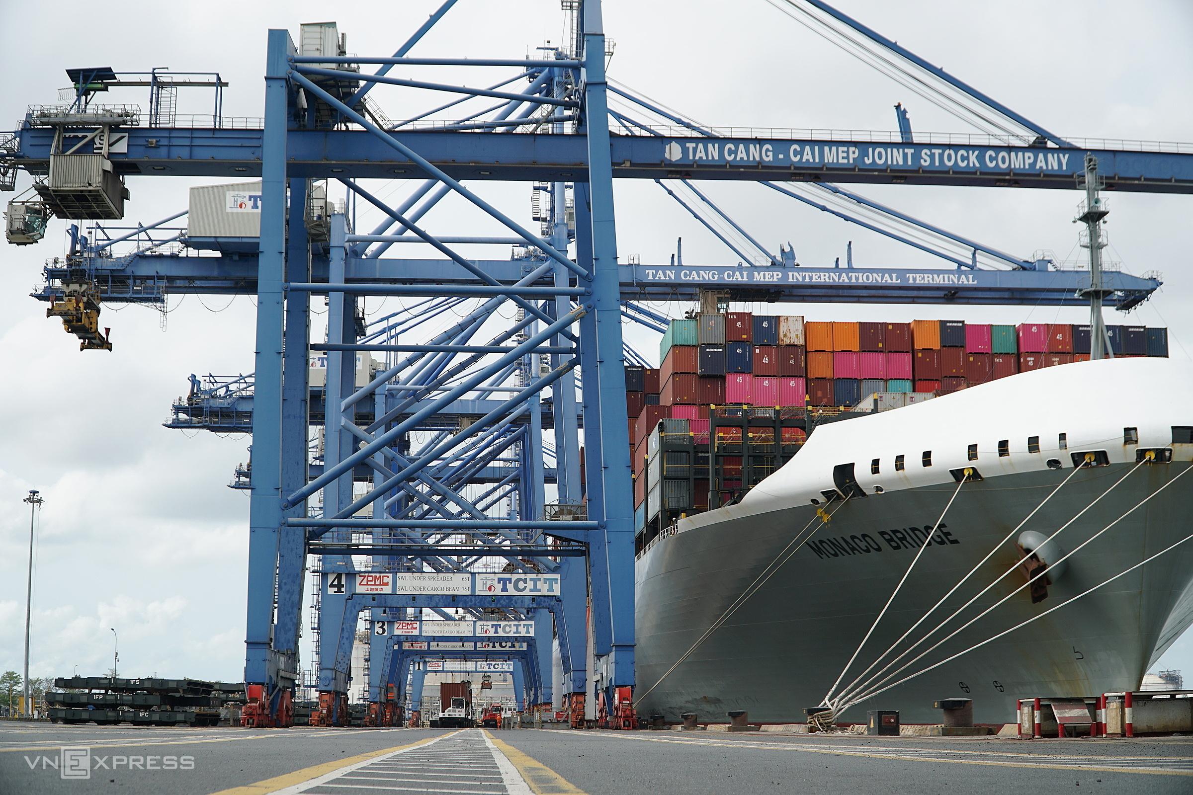 Tân cảng Cái Mép vào ngày 20/3. Ảnh: Đăng Khoa