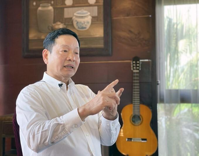 Ông Trương Gia Bình, Chủ tịch HĐQT tập đoàn FPT trong một buổi phỏng vấn. Ảnh: Quang Anh.