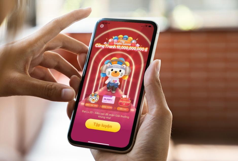 Tập luyện Lazzie cùng tranh 10 tỷ - trò chơi đặc biệt trên ứng dụng Lazada trong Lễ hội mua sắm 9.9 cũng ghi nhận hơn 750.000 khách hàng tham gia với tổng thời gian chơi lên đến 22,5 triệu phút. Ảnh: Lazada Việt Nam