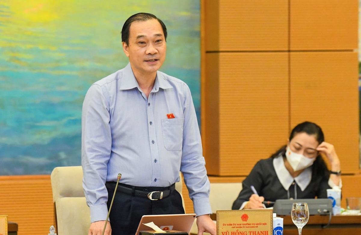 Ông Vũ Hồng Thanh - Chủ nhiệm Uỷ ban Kinh tế của Quốc hội. Ảnh: Hoàng Phong
