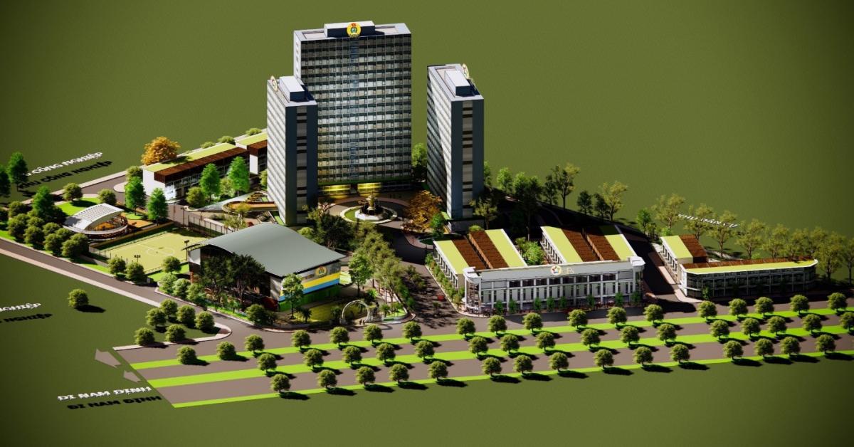 Khu nhà ở thiết chế Công đoàn tại Nam Định sẽ được Tập đoàn GFS áp dụng sử dụng cấu kiện tiền chế. Ảnh: Tập đoàn GFS