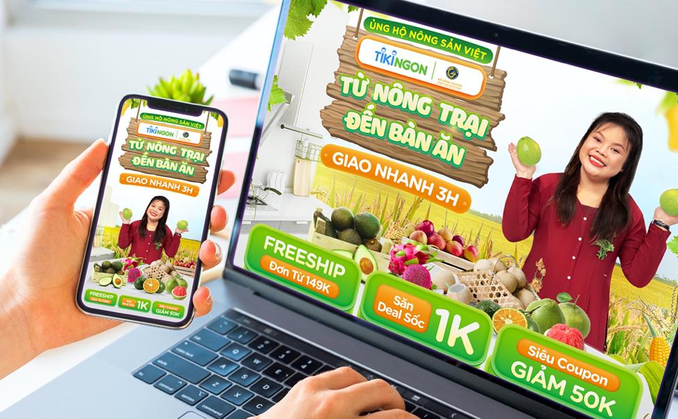 Ngành hàng TikiNGON đẩy mạnh chương trình Ủng hộ nông sản Việt, hỗ trợ đưa mặt hàng này lên sàn nhanh chóng và tiêu thụ hiệu quả hơn. Ảnh: Tiki