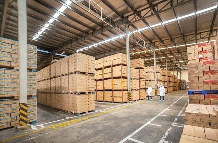 Kho thành phẩm trong một nhà máy của Vinamilk, tồn kho linh hoạt đảm bảo cung ứng trong nước và cả xuất khẩu theo diễn biến của Covid-19. Ảnh: Tuấn Anh