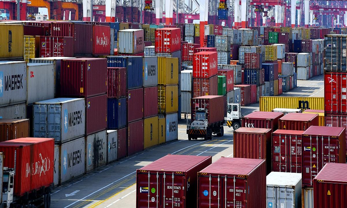 Container trong một cảng biển ở Trung Quốc. Ảnh: VCG