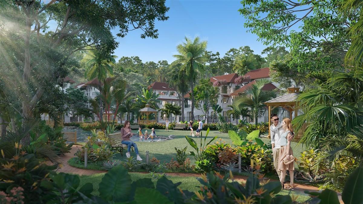 Phối cảnh Sun Tropical Village - mảnh ghép mới của quần thể Bãi Kem, Nam Phú Quốc.