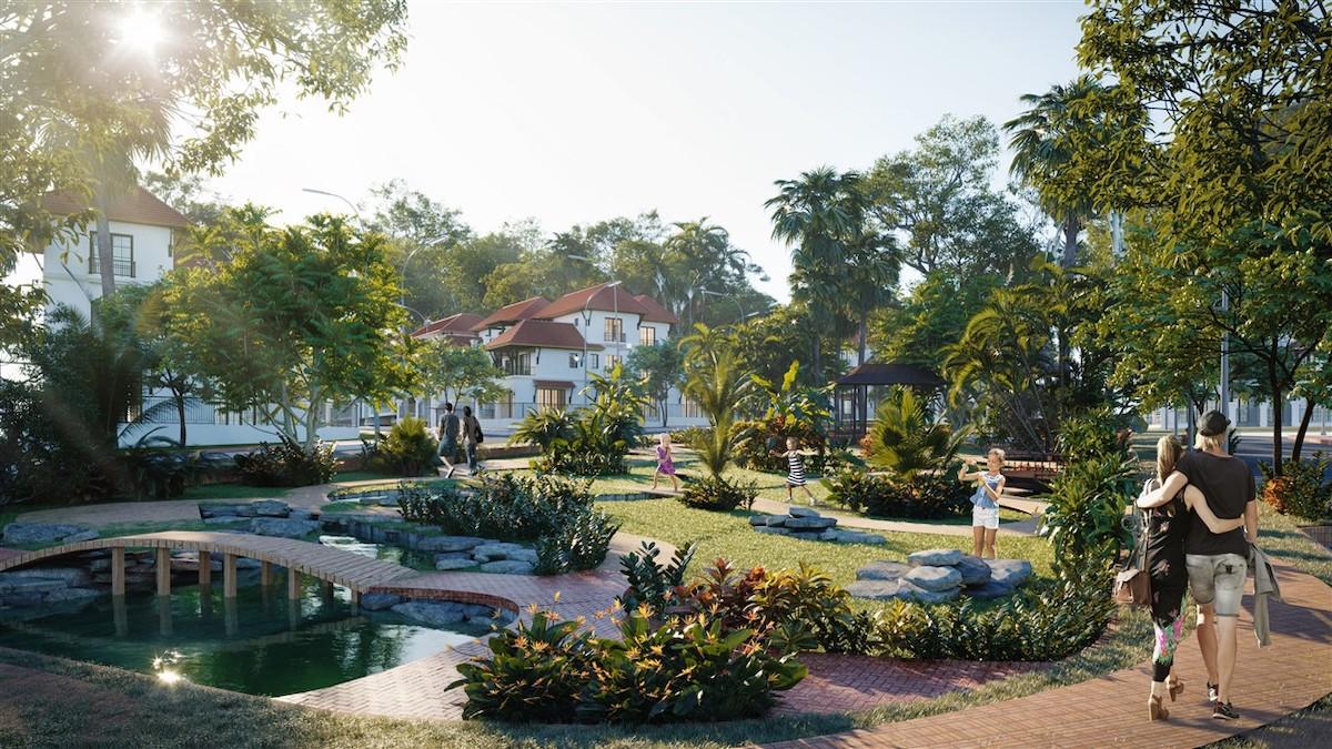Cảnh quan, tiện ích được đầu tư lớn tại Sun Tropical Village.